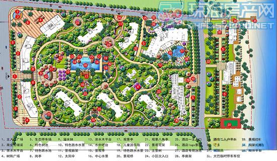 金色鳌苑建筑景观平面图